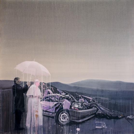 """""""The Pop(e) · acrylic on canvas · 140x140cm · 2014"""""""