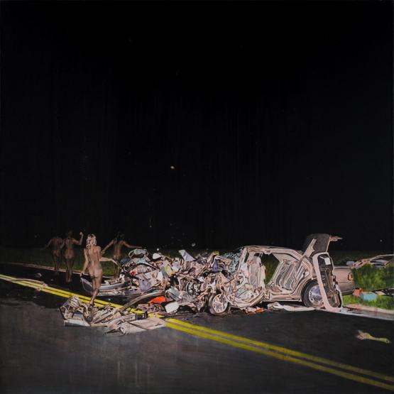 """The denial of death II"" · acrylic on canvas · 65x65cm · 2017"