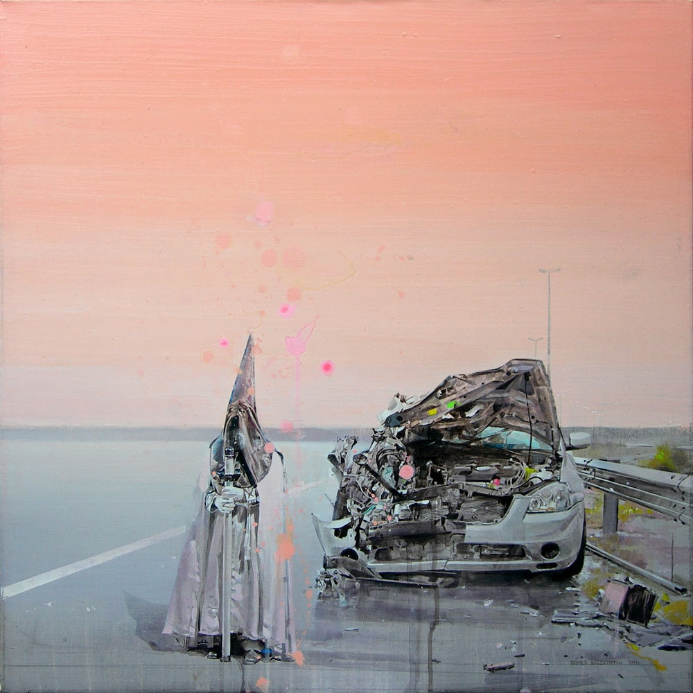 """Untitled II"" · acrylic on canvas · 65x65cm · 2011 · Cara Hoepner's private collection, San Francisco, CA"