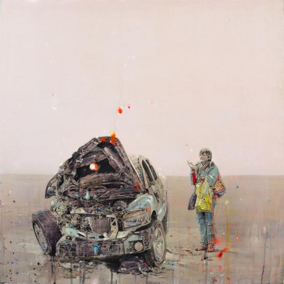 """""""Death's celebration"""" · acrylic on canvas · 65x65cm · 2011"""